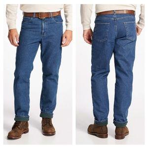 L.L.Bean Double L Jeans, Fleece-Lined Classic